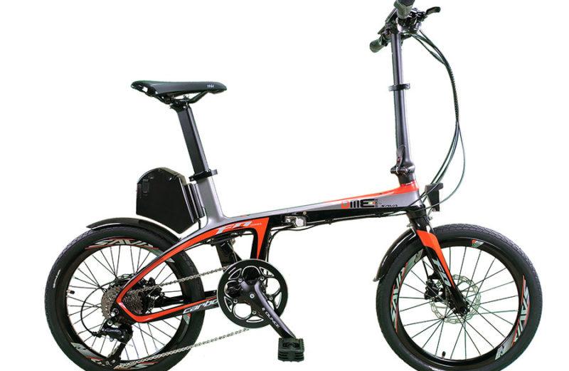 SUXIVE E6 V1. 250W 8.7 Ah carbon-bike 20″ Carbon Fiber bicicletta in fibra di carbonio